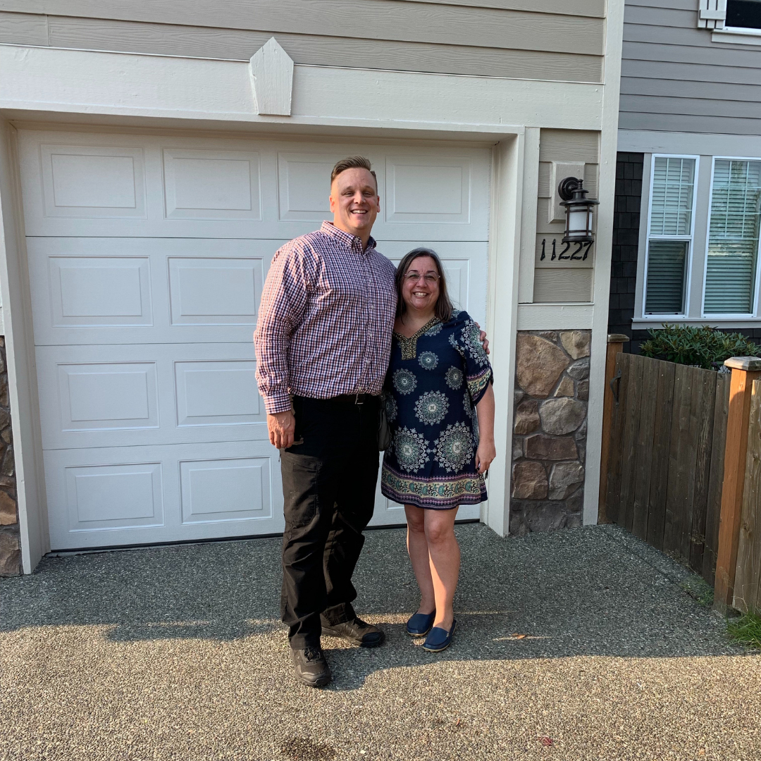 Buyers Chad and Olga-Marlene rouleau best real estate agent Snohomish